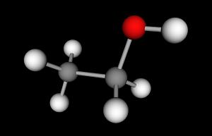 An ethanol molecule